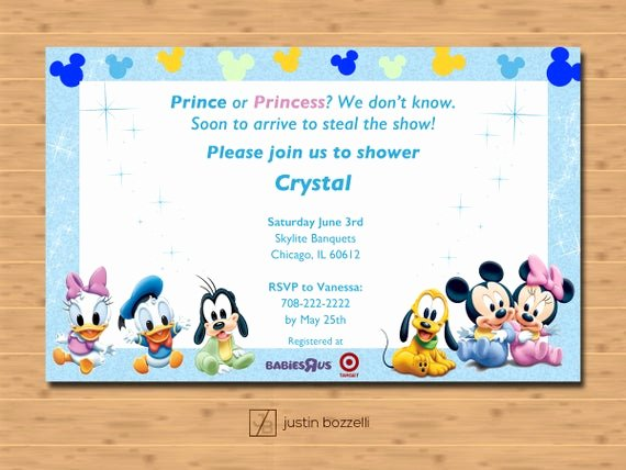 Disney Baby Shower Invitations Beautiful Disney Baby Shower Invitation Printable Customizable