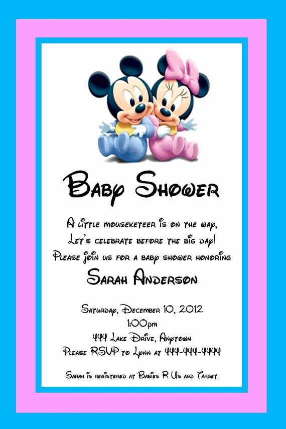Disney Baby Shower Invitations Beautiful Disney Baby Shower Invitations Party Xyz