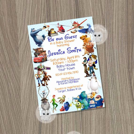 Disney Baby Shower Invitations Best Of Baby Shower Invitation for Boys Disney Baby Shower by