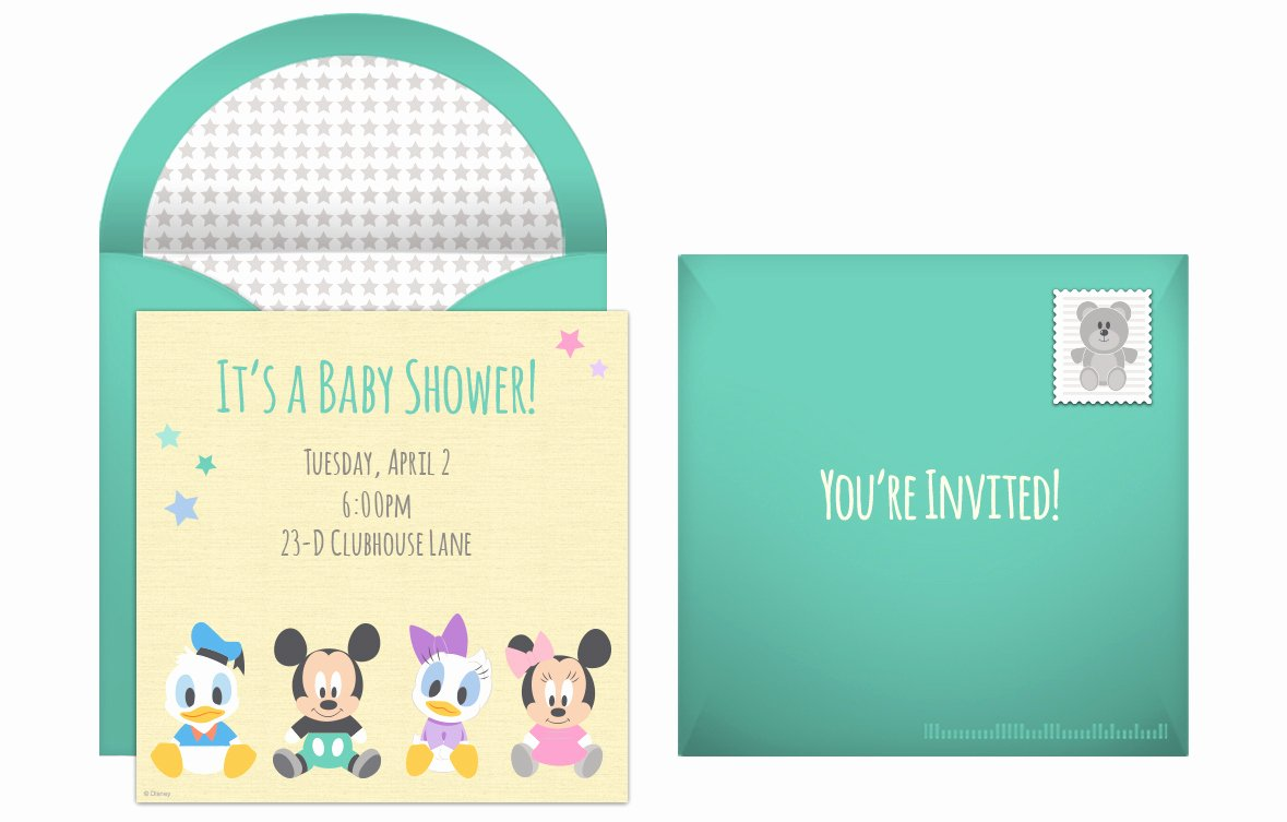 Disney Baby Shower Invitations Elegant Plan A Memorable Disney Baby Shower