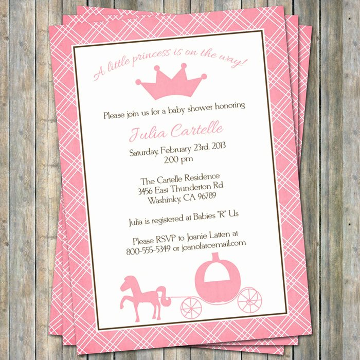 Disney Baby Shower Invitations Fresh Disney Princess Baby Shower Invitations Templates – Party Xyz