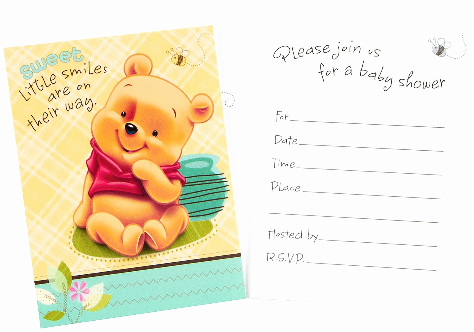 Disney Baby Shower Invitations Inspirational Disney Baby Pooh and Friends Baby Shower Invitations