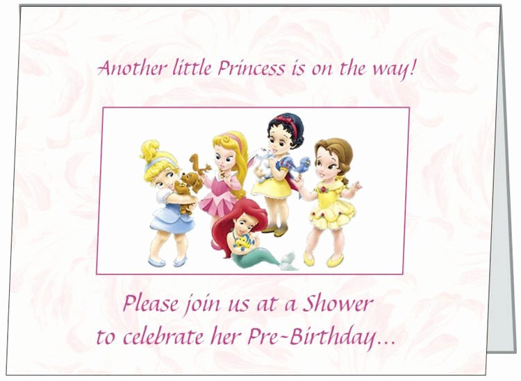 Disney Baby Shower Invitations Inspirational Ur Words Disney Princess Baby Girl Shower Invitations