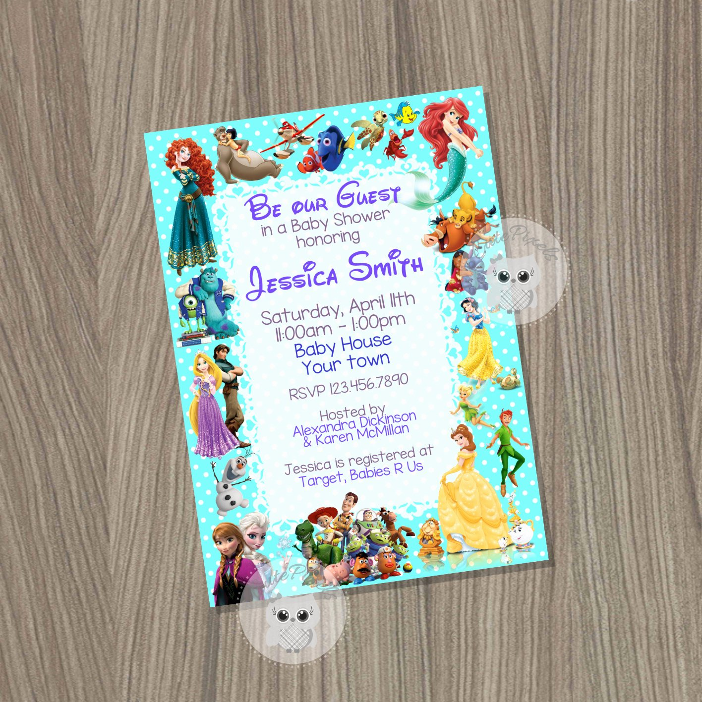 Disney Baby Shower Invitations Lovely Baby Shower Invitation Disney Baby Shower Baby Shower Baby