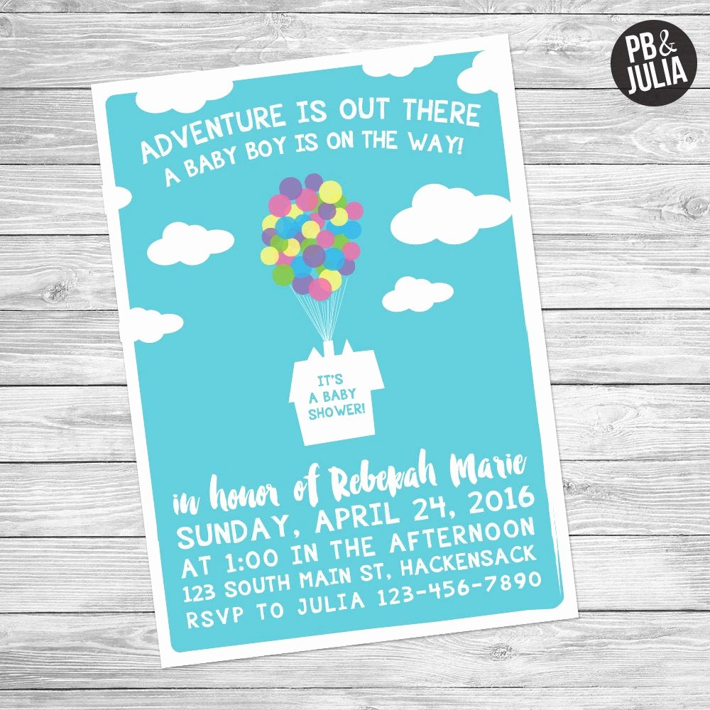 Disney Baby Shower Invitations Luxury Up Baby Shower Invite Disney Baby Shower Disney Up