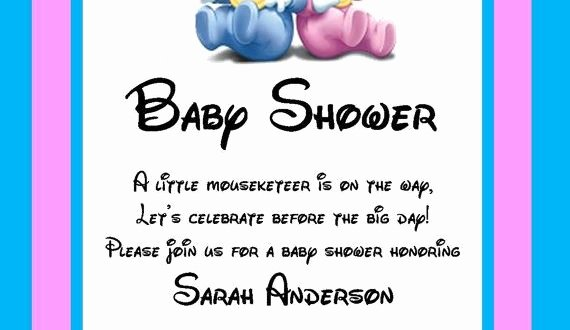 Disney Baby Shower Invitations New Disney Baby Shower Invitations Party Xyz