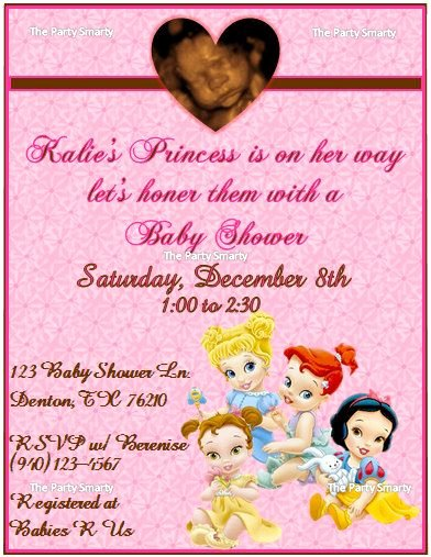 Disney Baby Shower Invitations New Disney Princess Baby Shower Invitation by thepartysmarty