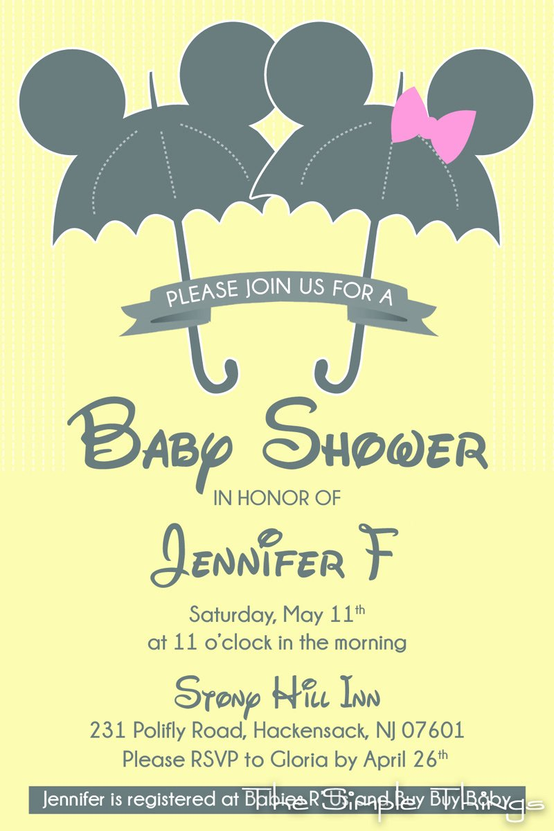 Disney Baby Shower Invitations New Winnie the Pooh and Friends Baby Shower