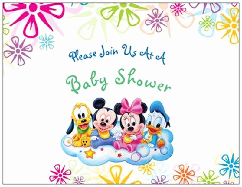Disney Baby Shower Invitations Unique 20 Mickey Minnie Donald Disney Baby Shower Invitations