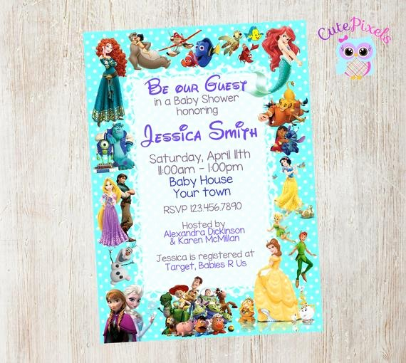 Disney Baby Shower Invitations Unique Baby Shower Invitation Disney Baby Shower Baby by Cute
