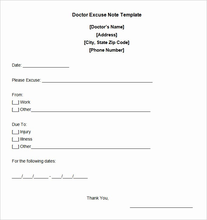 Doctors Note for Work Absence Unique 22 Doctors Note Templates Free Sample Example format
