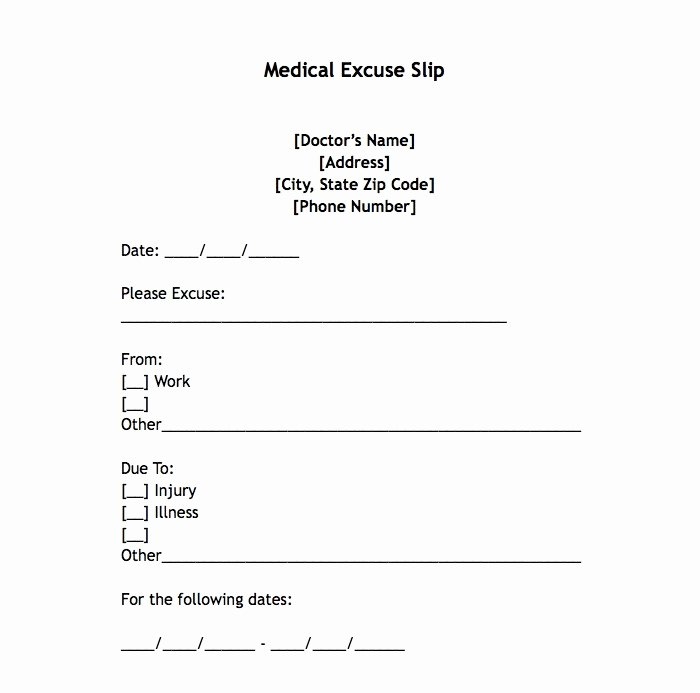 Doctors Note for Work Pdf Beautiful 25 Free Printable Doctor Notes Templates for Work Updated