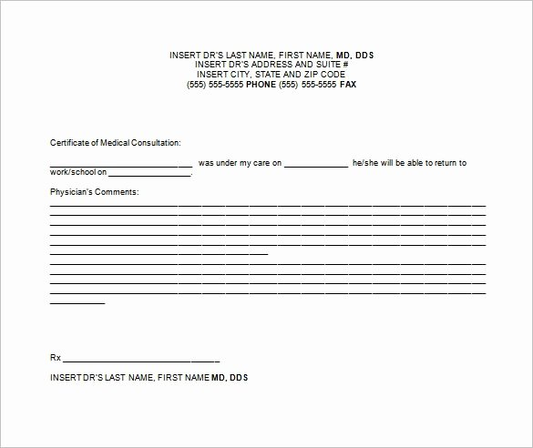 Doctors Note for Work Pdf Beautiful Free Fake Doctors Note Template Download – Impressive