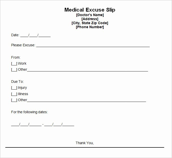 Doctors Note for Work Pdf Elegant 9 Doctor Excuse Templates Pdf Doc