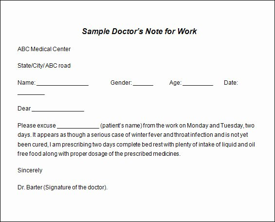 Doctors Note for Work Pdf Fresh 12 Printable Fake Doctors Excuse Slips