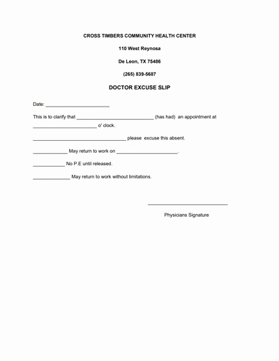 Doctors Note for Work Pdf Inspirational Doctors Note for Work Template Download Create Fill and