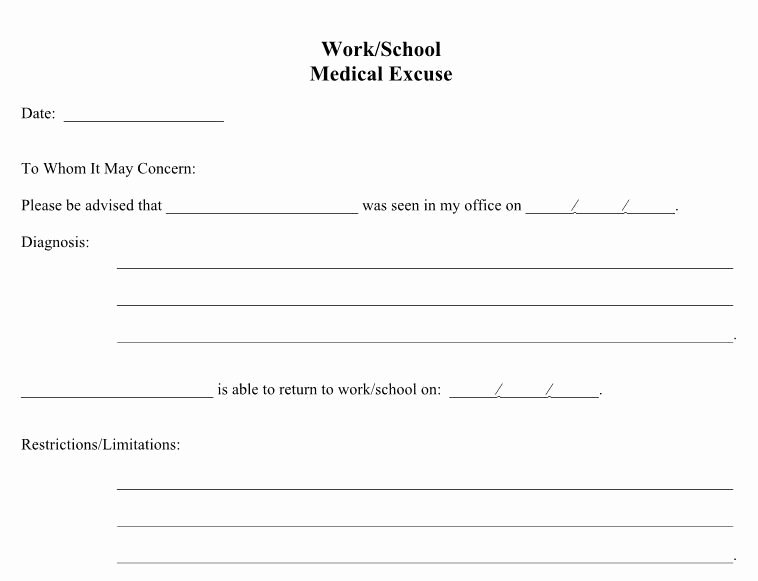 Doctors Note for Work Pdf New 21 Free Doctor Note Excuse Templates Template Lab