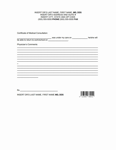 Doctors Note for Work Pdf Unique Doctors Note for Work Template