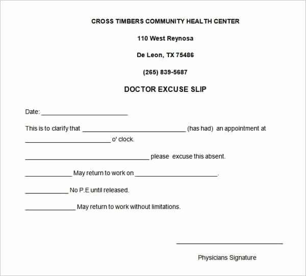 Doctors Note Template Pdf Awesome 4 Free Doctors Note for Work Templates Word Excel