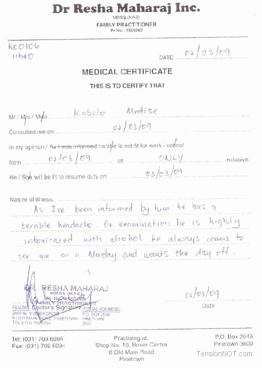 Doctors Note Template Pdf Lovely Fake Doctors Note Template Free Doctor Excuse Pdf Sick