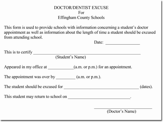 Doctors Note Template Pdf New Doctor S Note Templates 28 Blank formats to Create