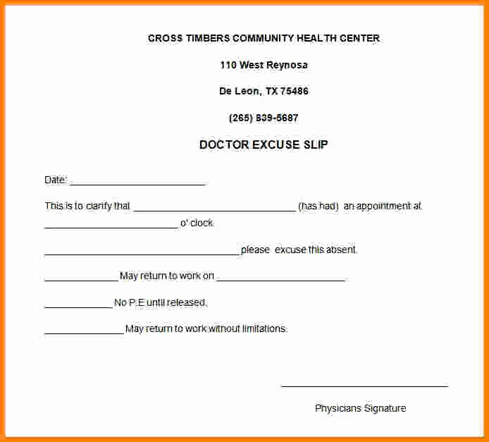 Doctors Notes for Missing Work Best Of 8 Doctor Note for Work