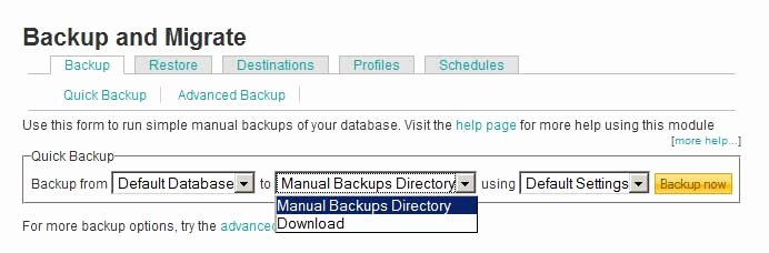 Drupal Backup and Migrate Awesome Featured Drupal Module Backup and Migrate