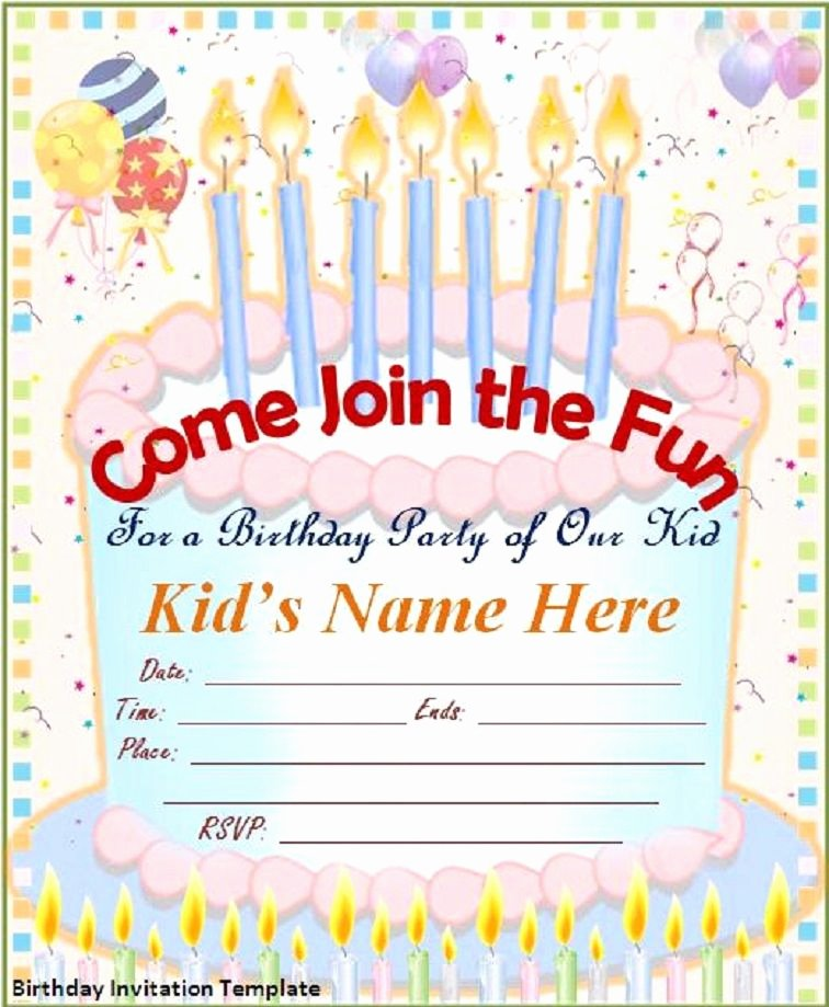 Editable Birthday Invitations Templates Free Best Of Editable Free Birthday Invitation Templates