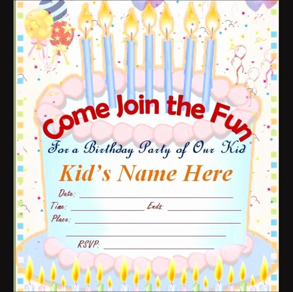 Editable Birthday Invitations Templates Free Best Of Free 63 Printable Birthday Invitation Templates In Pdf