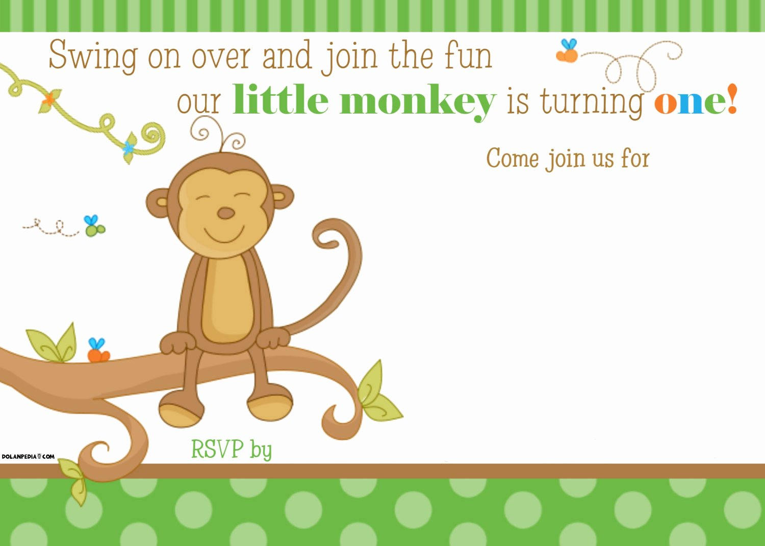 Editable Birthday Invitations Templates Free Fresh Free Printable Little Monkey Birthday Invitation Template