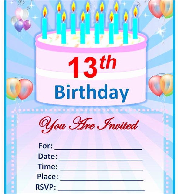 Editable Birthday Invitations Templates Free Fresh Sample Birthday Invitation Template 40 Documents In Pdf