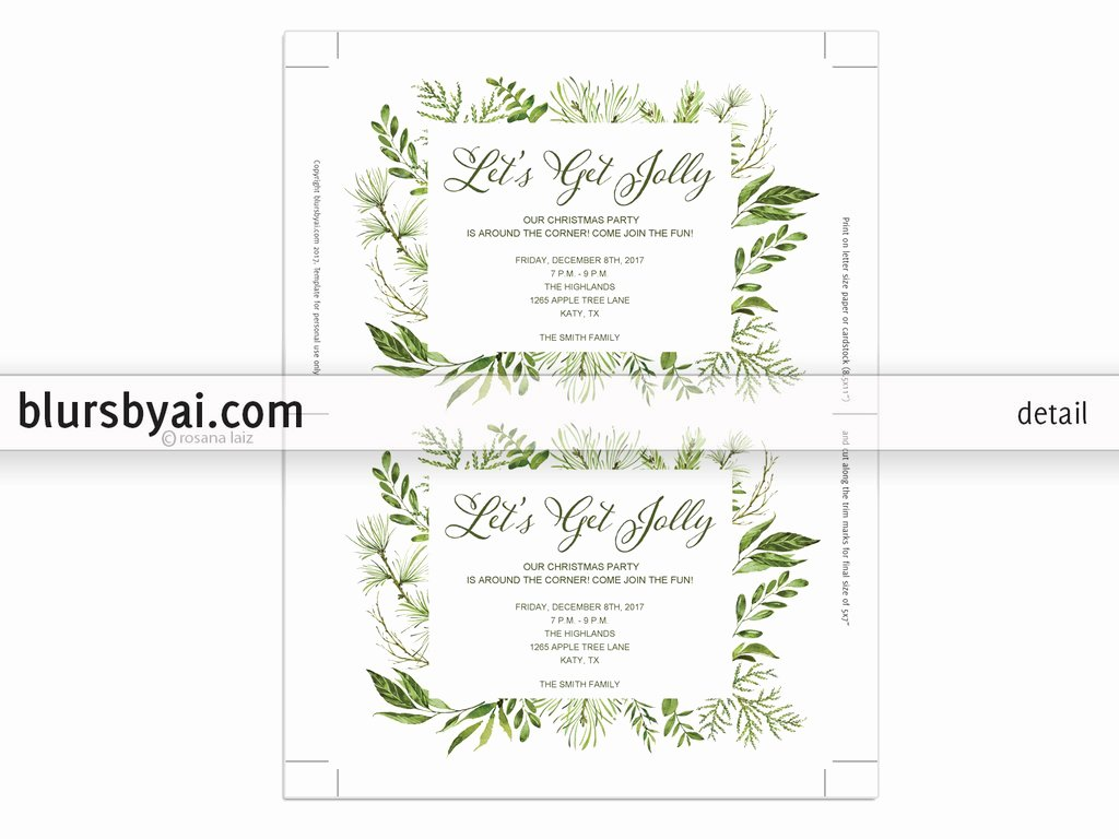 Editable Birthday Invitations Templates Free Inspirational Editable Pdf Christmas Party Invitation Template