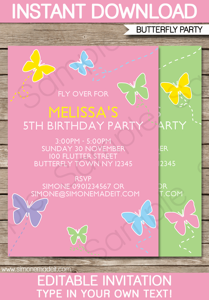 Editable Birthday Invitations Templates Free Luxury Free Editable Birthday Invitation Templates