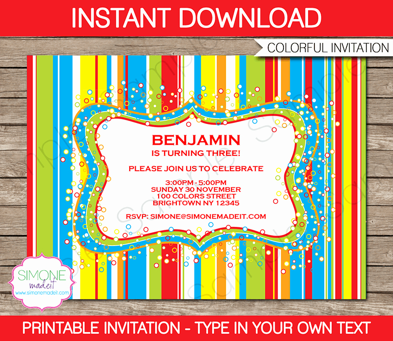 Editable Birthday Invitations Templates Free Unique Sweet Shoppe Party Invitations