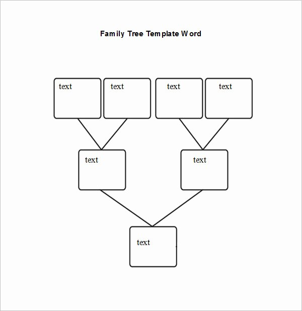 Editable Family Tree Template Inspirational Blank Family Tree Chart 6 Free Excel Word Documents