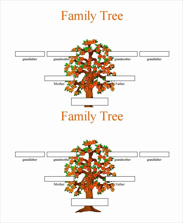 Editable Family Tree Template New Sample 3 Generation Family Tree Template 6 Documents In