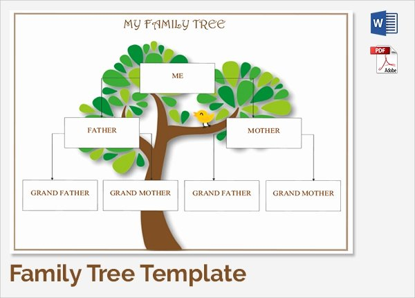 Editable Family Tree Template Unique Sample Family Tree Chart Template 17 Documents In Pdf