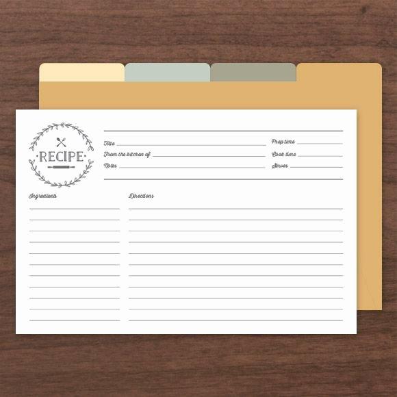 Editable Recipe Card Template Beautiful Printable & Editable Recipe Cards Es with Front and
