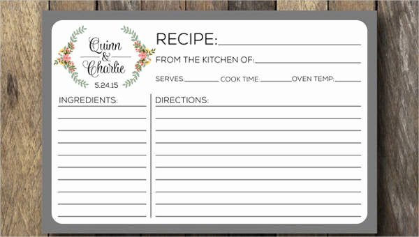 Editable Recipe Card Template Beautiful Recipe Card Template 10 Free Pdf Download