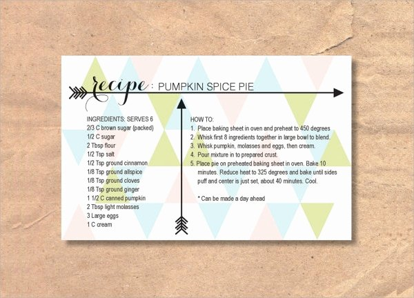 Editable Recipe Card Template Best Of 27 Printable Recipe Card Free Psd Vector Eps Png