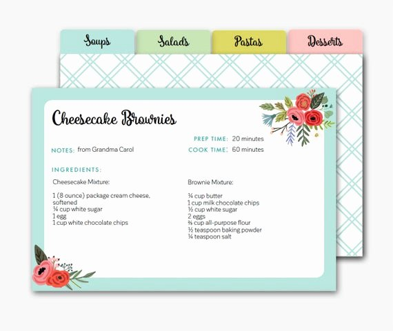 Editable Recipe Card Template Best Of Editable Recipe Card Recipe Dividers Printable Recipe Cards