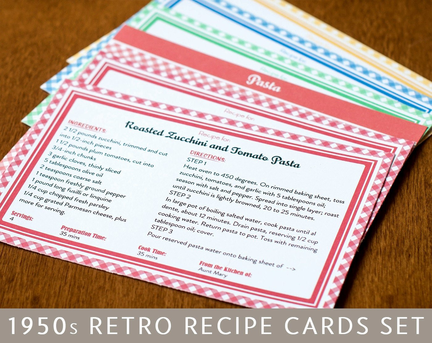 Editable Recipe Card Template Luxury Printable Recipe Cards and Dividers Retro 1950s Design