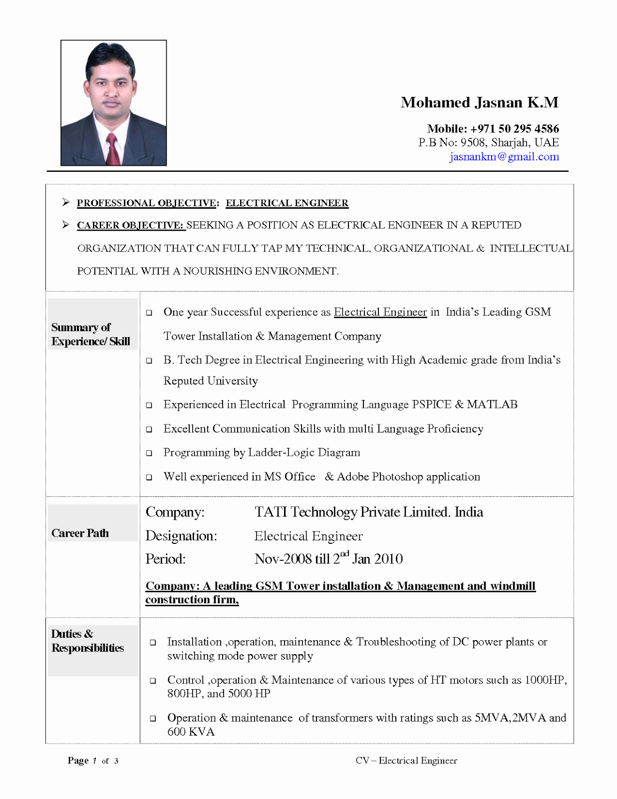 Electrical Engineer Resume Sample Beautiful Resume Objective Examples Electrical Engineering Tipss