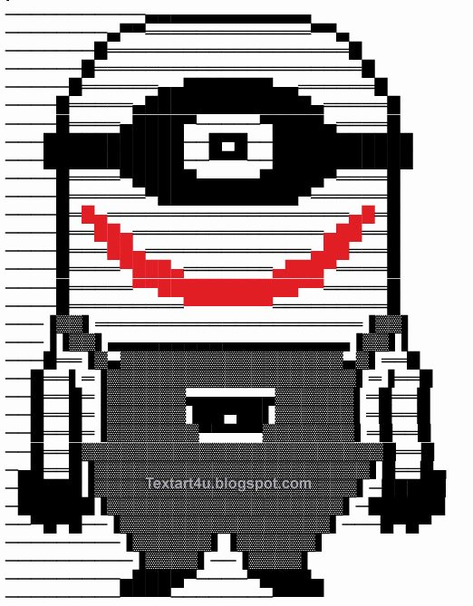 Emoji Art Copy and Paste Fresh Copy Paste Minion Joker Text Art for