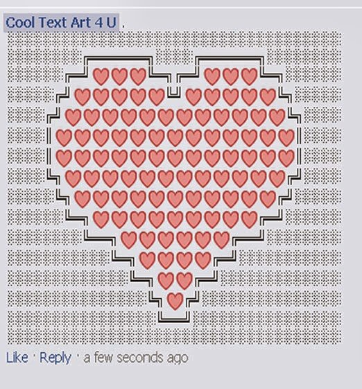 Emoji Art Copy and Paste Unique Heart Emoji Art Code for Ments