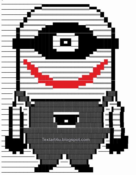Emoji Pictures Copy and Paste Unique Copy Paste Minion Joker Text Art for