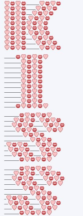 Emoji Text Copy and Paste New Design the Symbol Of Love with Emoji Art