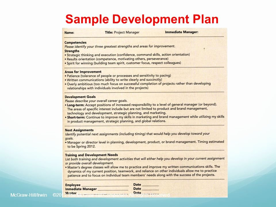 Employee Development Plan Examples Unique Chapter 09 Employee Development Ppt