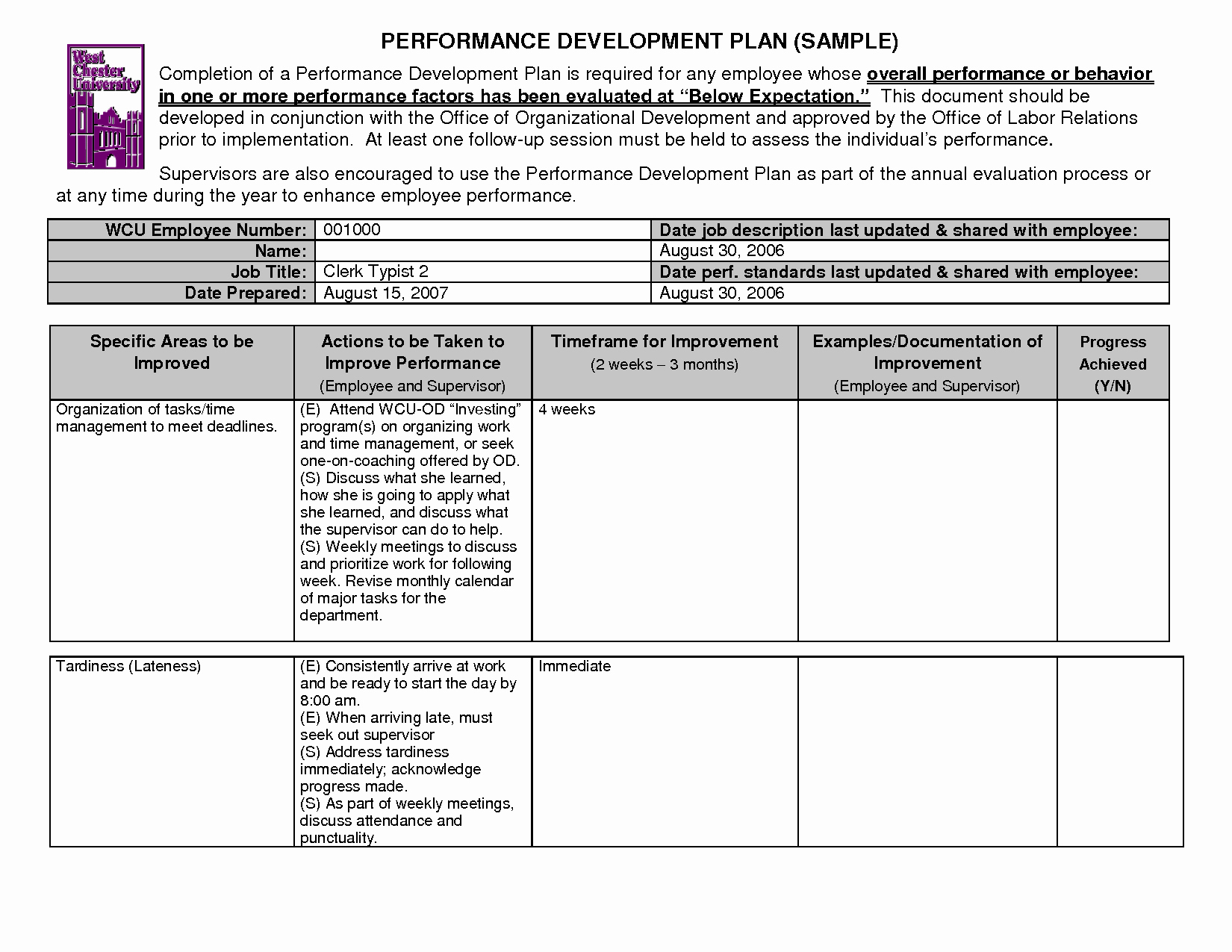 Employee Development Plans Templates Unique 14 Best Of Personal Training Goals Worksheet