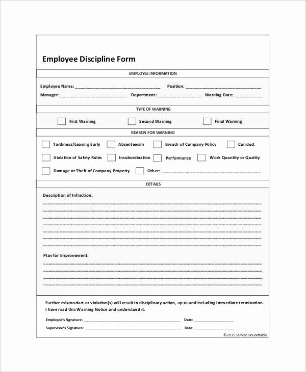 Employee Disciplinary Action form Luxury 23 Employee Write Up form Free Download [word Pdf]